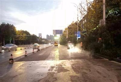 天津示范镇商业街路面维修工程