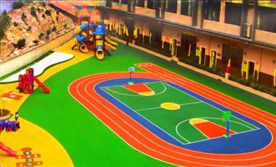汶上县泗汶小学幼儿园塑胶操场工程
